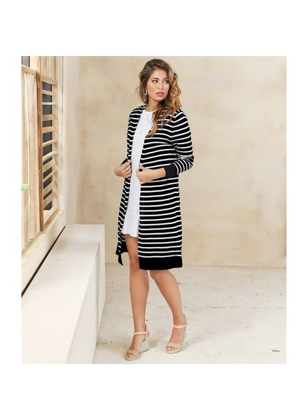 Mudpie Black & White Striped Sweater