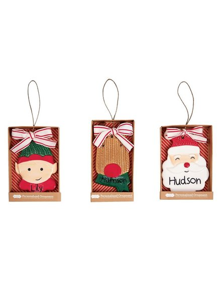 Mudpie Personalized Christmas Ornaments