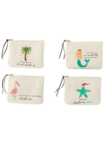 Mudpie Beach Christmas Zip Pouches