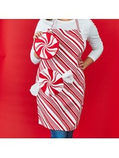 Two's Company Monogrammed Peppermint Apron & Pot Holder