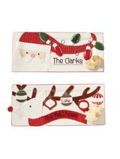 Mudpie Personalized Christmas Trays
