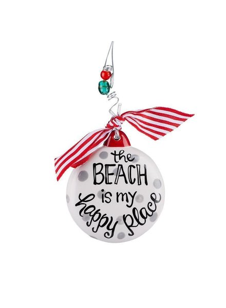 Glory Haus Beach Is My Happy Place Ornament