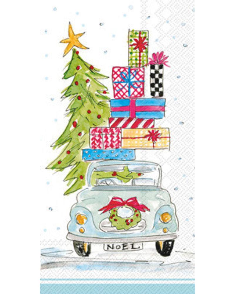 Boston International Christmas Tree On Car Napkins