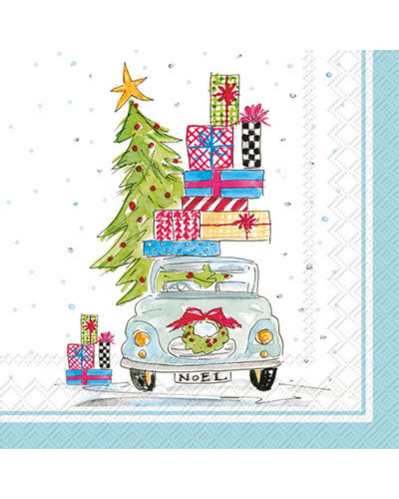 Christmas Napkins.Boston International Christmas Tree On Car Napkins