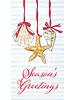Boston International Season's Greetings Seashell Napkins