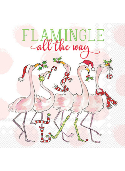 Boston International Flamingle All the Way Cocktail Napkin