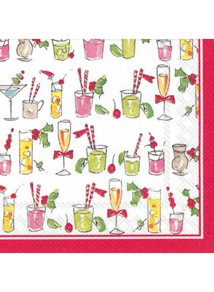 Boston International Christmas Drinks Cocktail Napkin