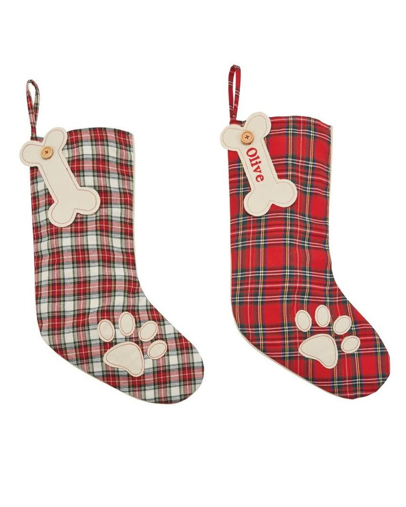 Mudpie Monogrammed Dog Stockings
