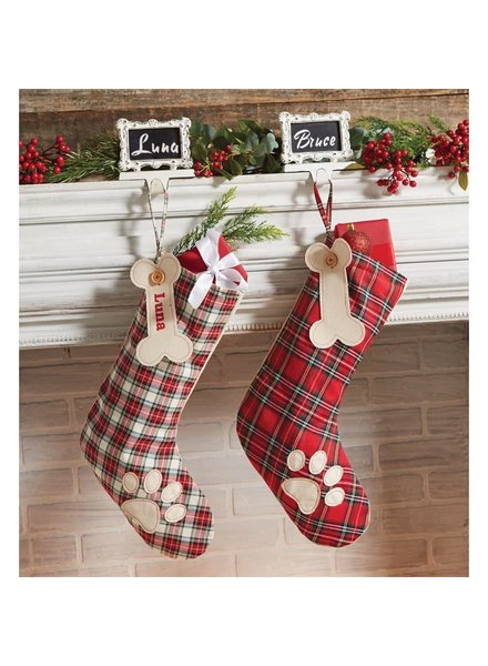 Mudpie Personalized Dog Stockings