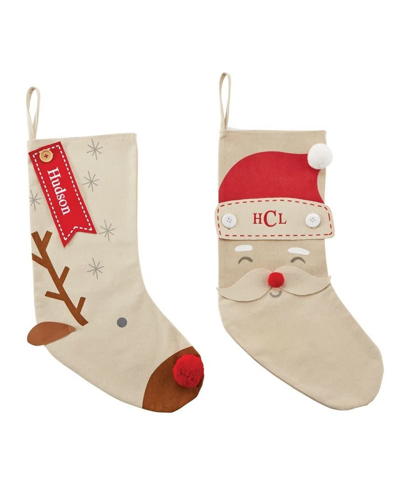 Christmas Stocking Personalized.Mudpie Mudpie Personalized Stockings
