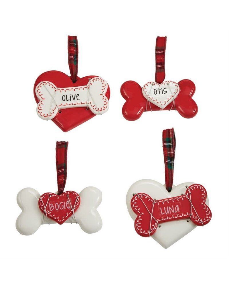 Mudpie Personalized Dog Ornaments
