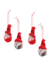 Boston International Set of 4 Gnome Ornaments