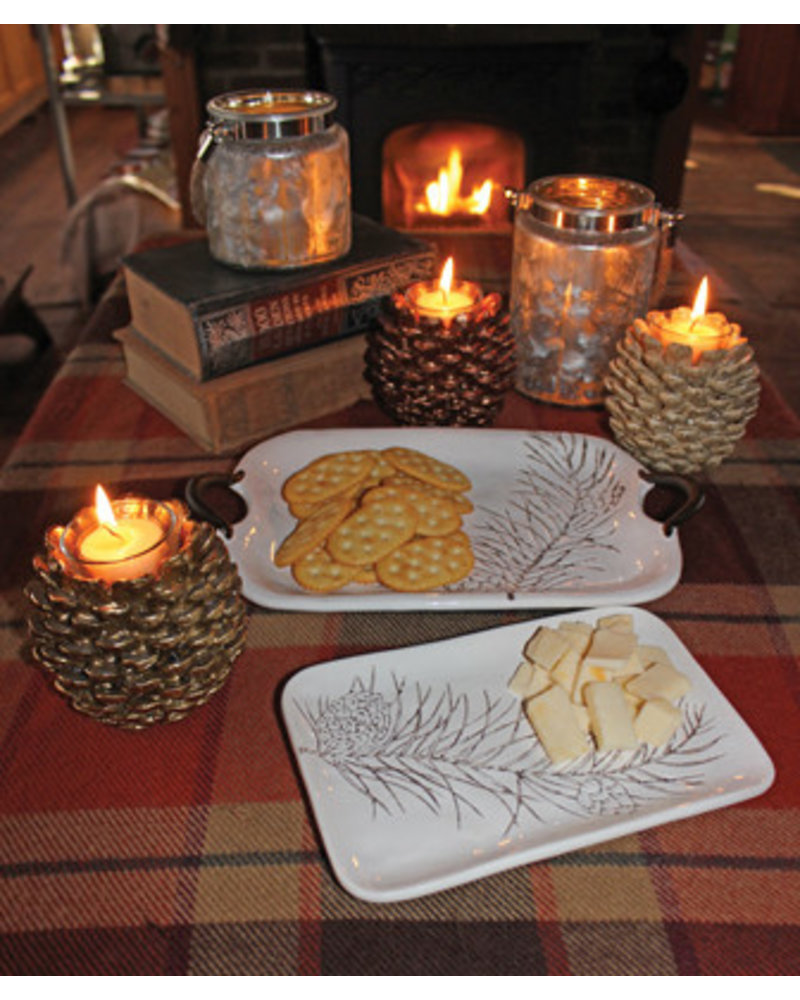 Boston International Pinecone Tealight Candle Holders