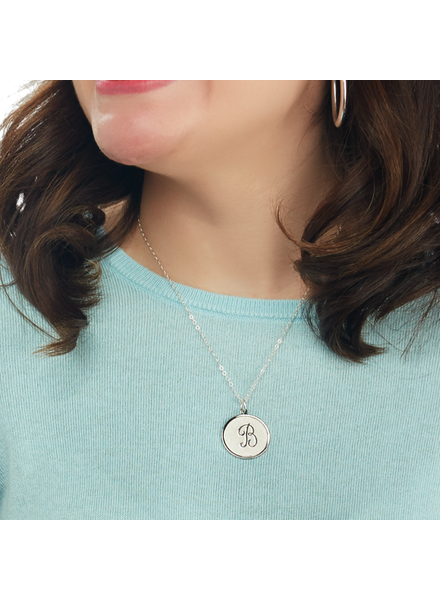 Moon and Lola Initial Pendant Necklace - Choose Size & Length
