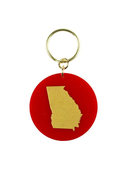 Moon and Lola Moon & Lola State Keychain - Choose State & Color