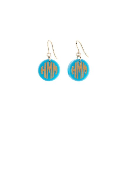 Moon and Lola Monogram Earrings - Choice of Color