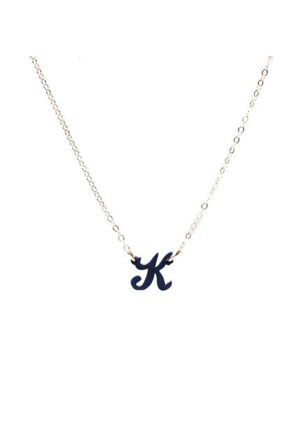Moon and Lola Single Initial Letter Necklace
