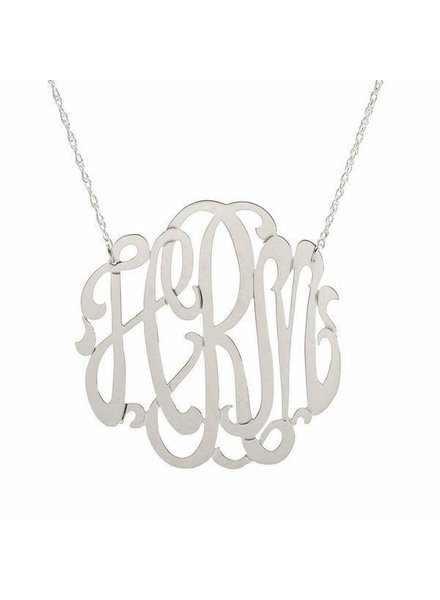 Moon and Lola Metal Monogram Necklace - Gold or Silver