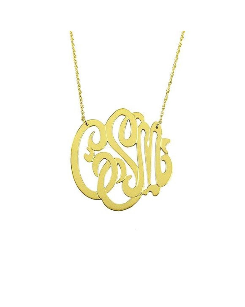 Moon and Lola Moon & Lola Metal Monogram Necklace