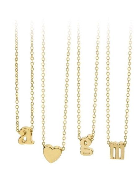 Sahira Jewelry Mini Initial Necklace