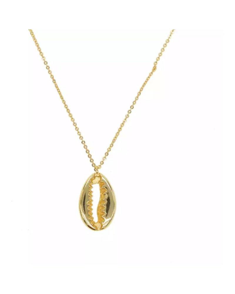 Sahira Jewelry Gold Verda Shell Necklace