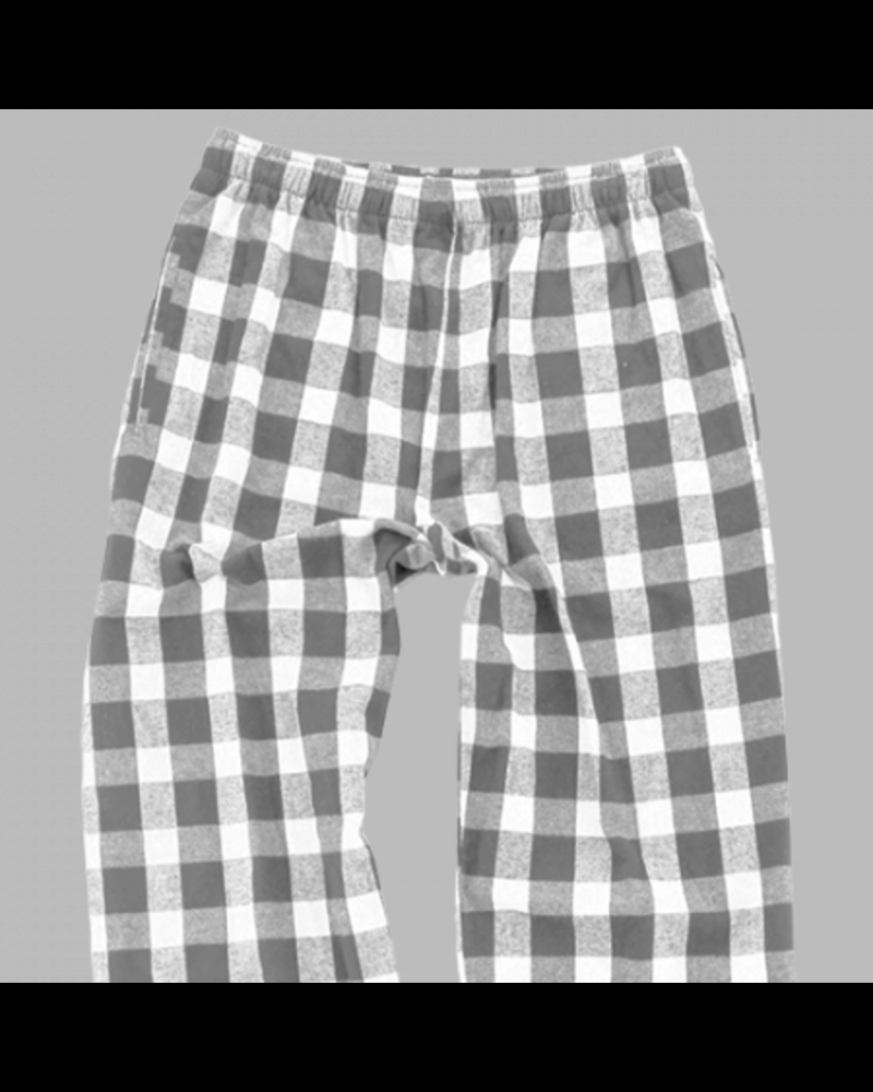Boxercraft Monogrammed Youth Grey Plaid Pajama Pants