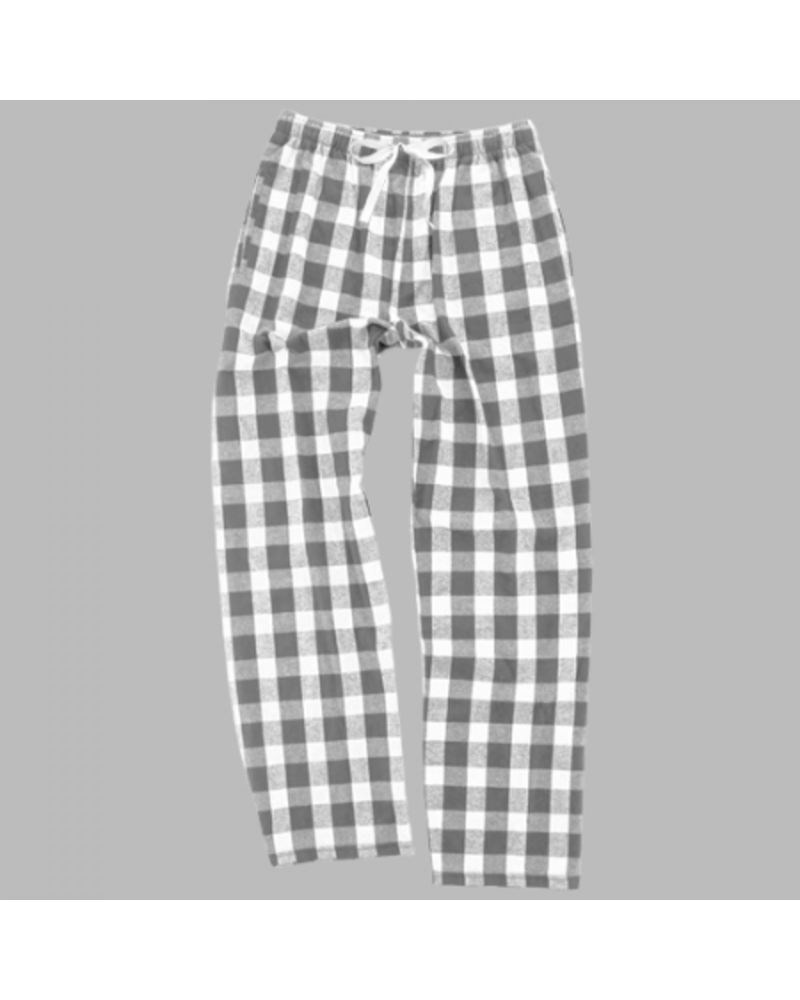 Boxercraft Monogrammed Grey Buffalo Plaid Pajama Pants