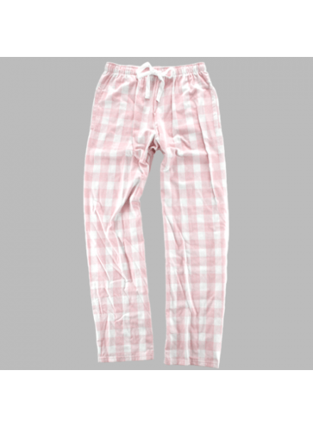 Boxercraft Monogrammed Pink Plaid Pajama Pants