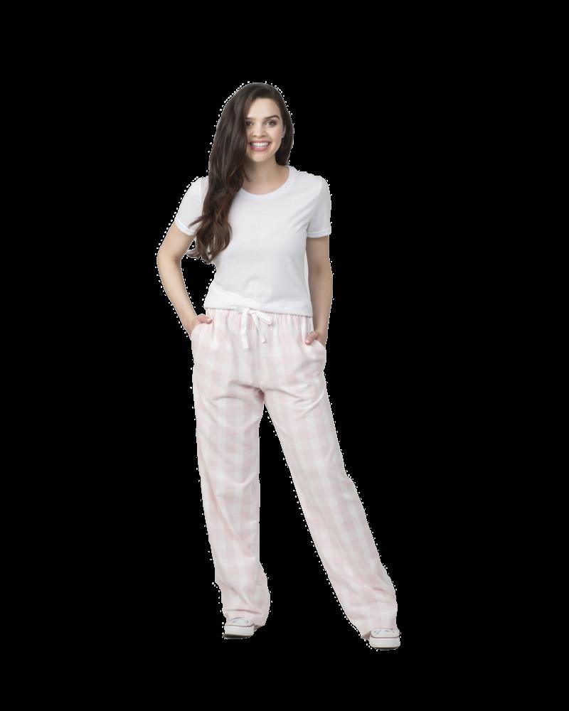 Boxercraft Monogrammed Pink Plaid Pajama Pants