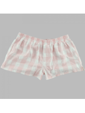 Boxercraft Monogrammed Pink Plaid Boxer Shorts