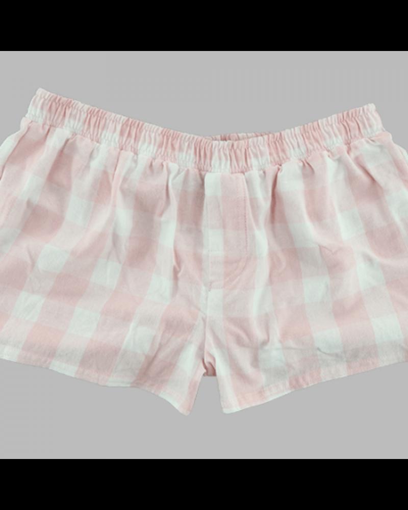 Boxercraft Monogrammed Pink Plaid Boxer Shorts