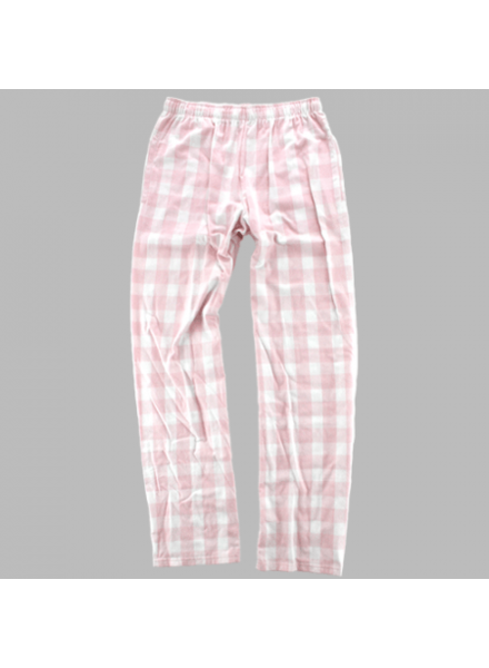 Boxercraft Youth Monogrammed Pink Plaid Pajama Pants