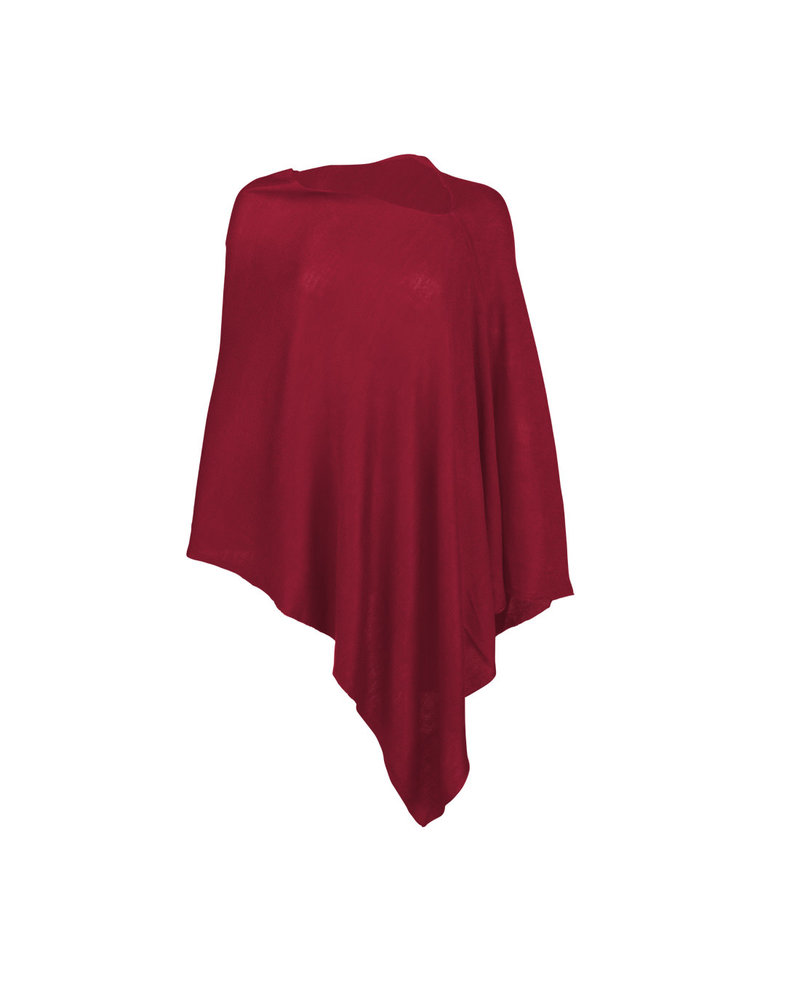 Wholesale Boutique Garnet Monogrammed Poncho