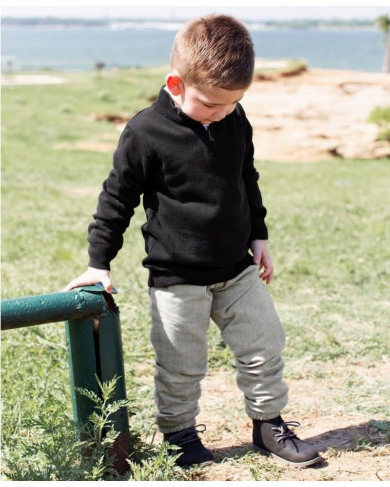Charcoal Herringbone Jogger Pants