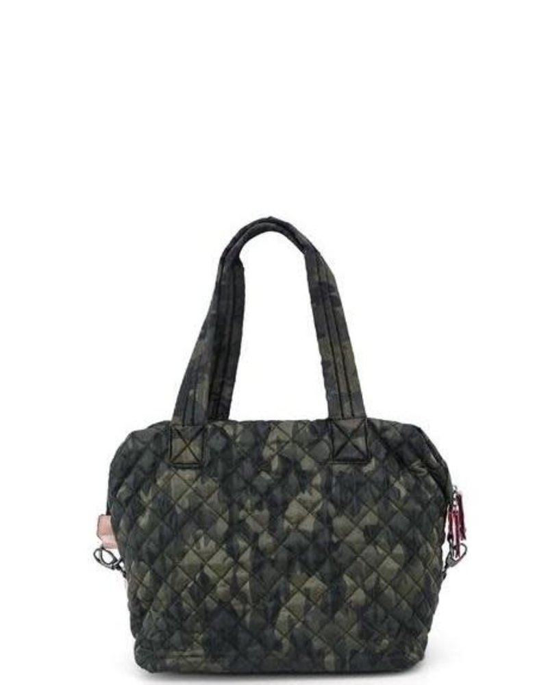Monogrammed Medium Camo Quilted Tote