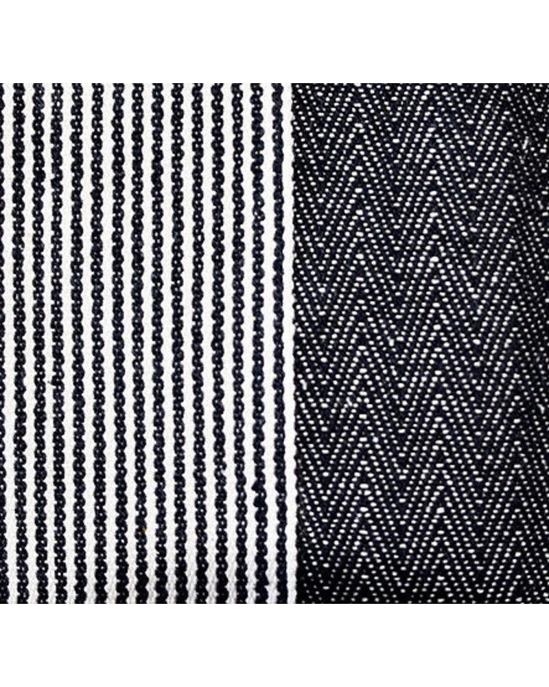 1968 & Co. Black Fringe Center Stripe Tote
