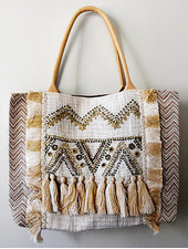 1968 & Co. Tan Tassel Shopper Tote