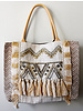 1968 & Co. Tan Tassel Shopper Tote Bag