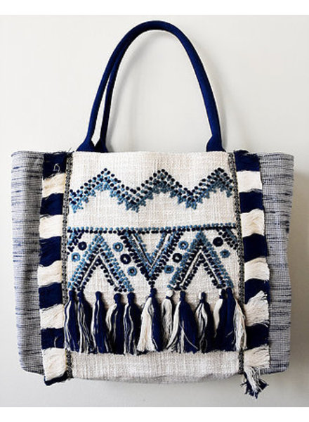 1968 & Co. Blue Tassel Shopper Tote
