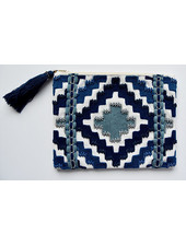 1968 & Co. Blue Beaded Zip Pouch