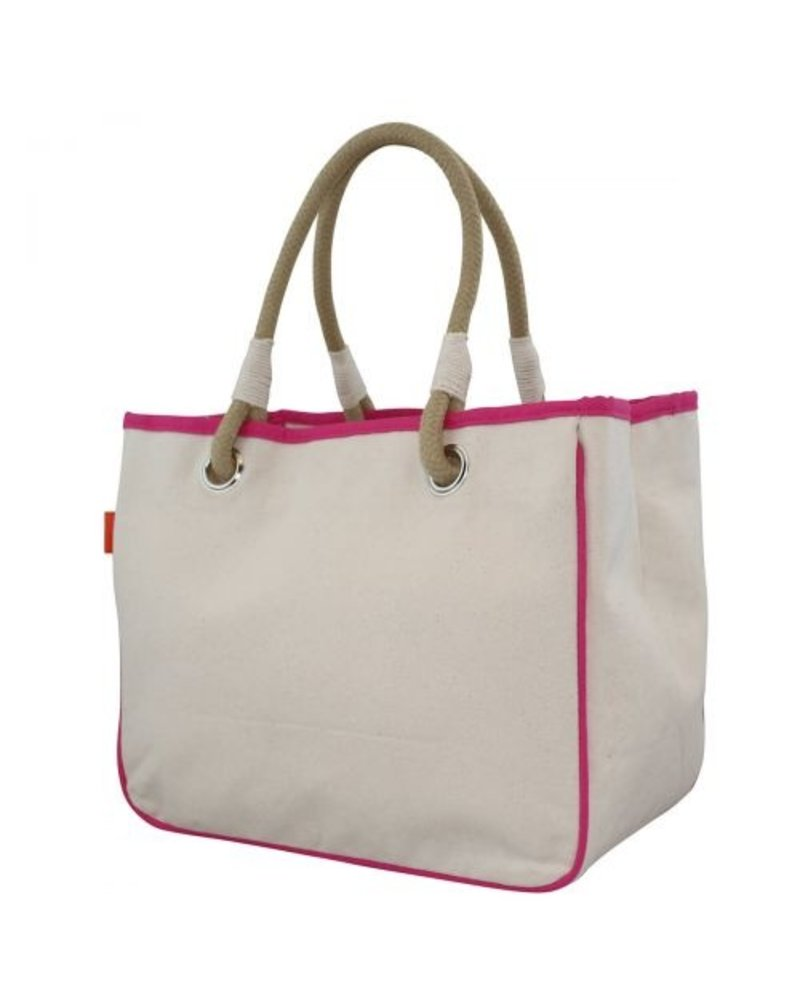 CB Station Monogrammed Canvas Rope Tote