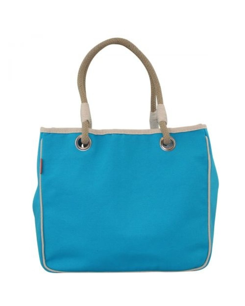 CB Station Monogrammed Solid Canvas Rope Tote