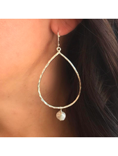Sea Lustre Tear Drop Pearl Earrings