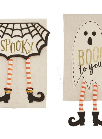 Mudpie Halloween Dangle Leg Towels