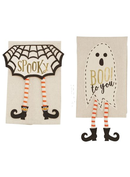 Mudpie Halloween Dangle Leg Towels