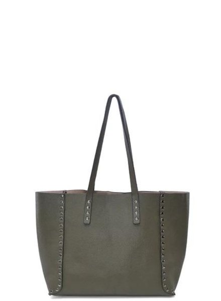 Reversible Studded Tote - 4 Color Combos