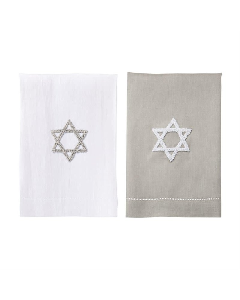 Mudpie Star of David French Knot Towels