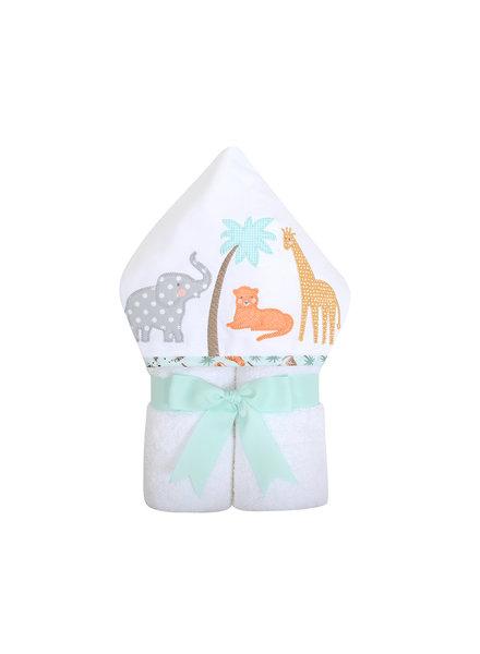 3 Marthas Monogrammed Safari Hooded Towel