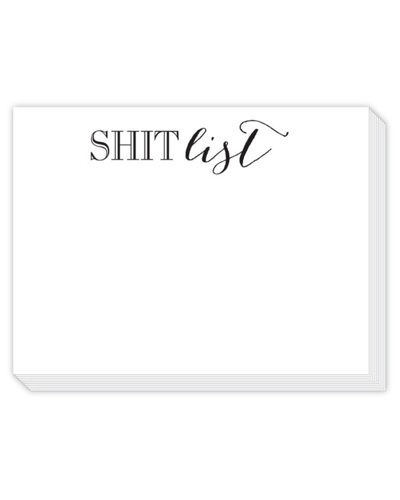 Roseanne Beck Shit List Notepad