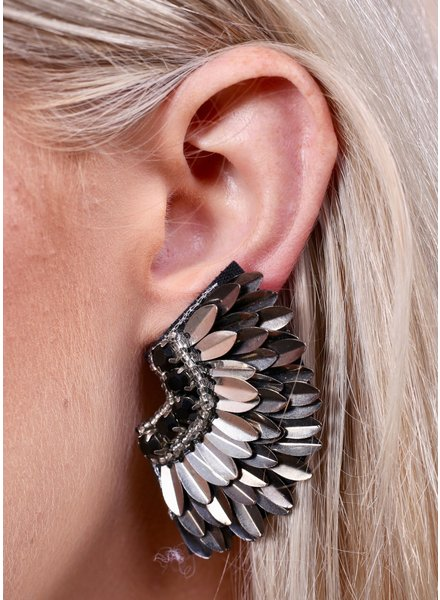 Caroline Hill Silver Femme Fan Post Earrings